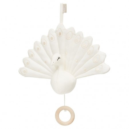 CamCam Music Mobile, Peacock - Creme White (Musical toys)