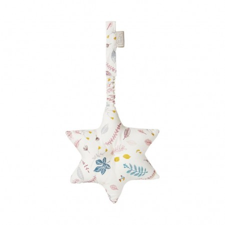 CamCam Play Gym, Star with crinkle paper - Pressed Leaves Rose (Rattles)