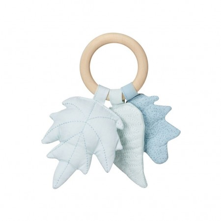 CamCam Rattle, Leaves Mix Blue (Teethers)