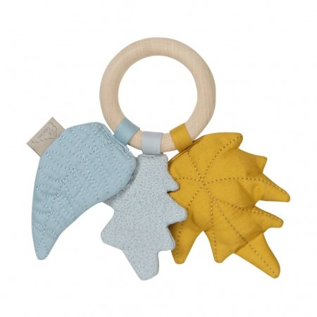 CamCam Rattle, Leaves Mix Mustard (Teethers)