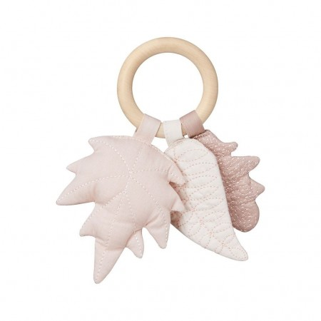 CamCam Rattle, Leaves Mix Rose (Teethers)