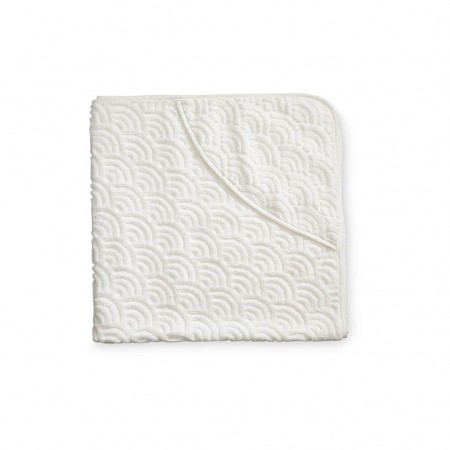 CamCam Towel, Baby, Hooded Off-White (Towels)