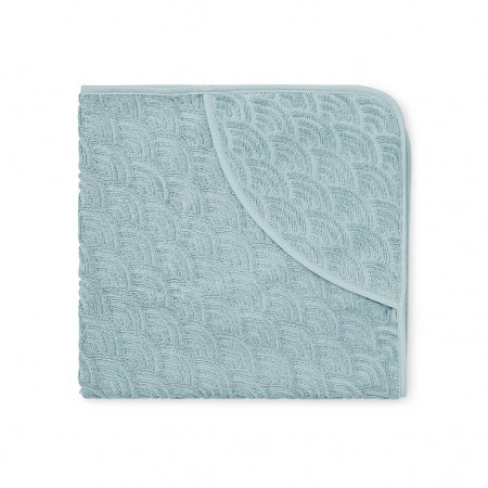 CamCam Towel, Baby, Hooded Petroleum