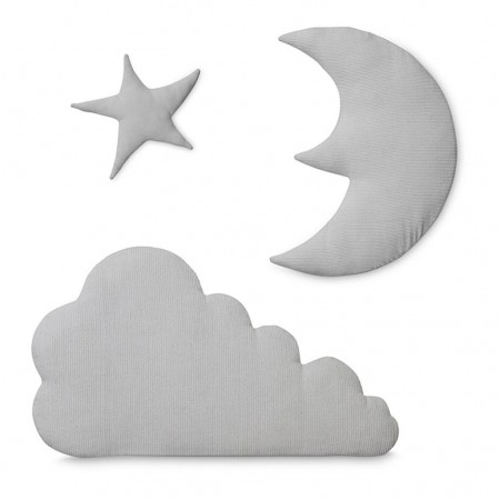 CamCam Wall Decoration Moon, Cloud, Star Light Grey (Room accessories)