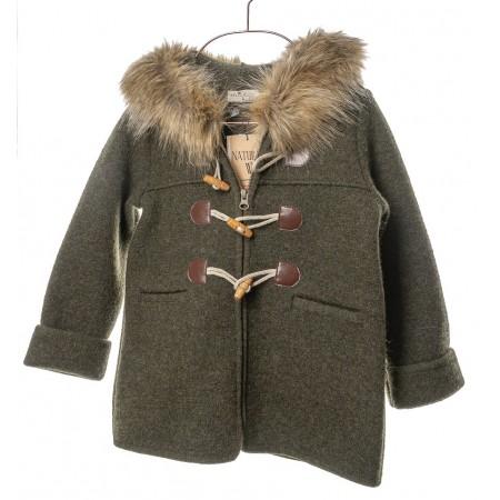 Marae Coat with Zipper - Green