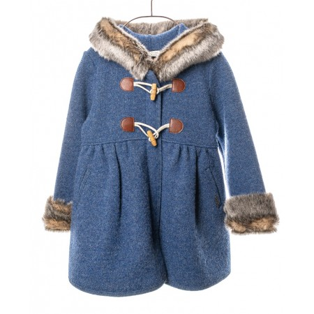 Marae Coat with Zipper - Blue (Outdoor Clothing)