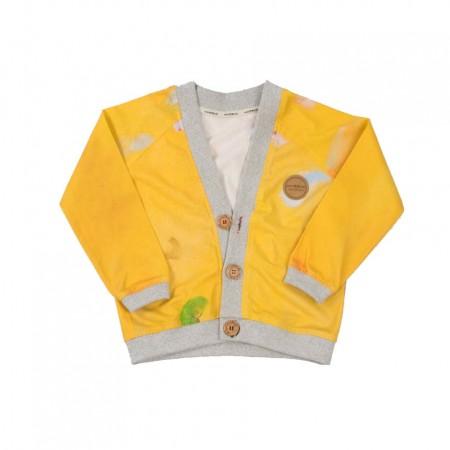 MimOOkids Close-Me Cardigan V-Neck, Colibri Yellow (Sweaters)