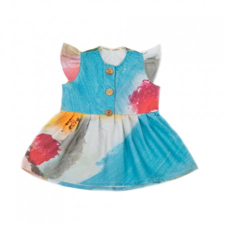 MimOOkids Easy-Dress, Garden Colours 2-3y (Dresses)
