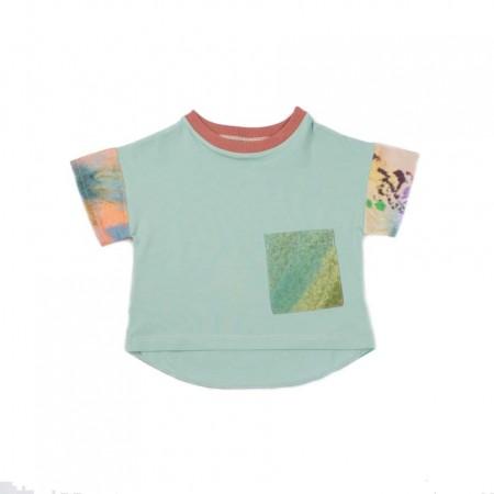 MimOOkids Oversize Shirt, Spearmint & Garden (Shirts)