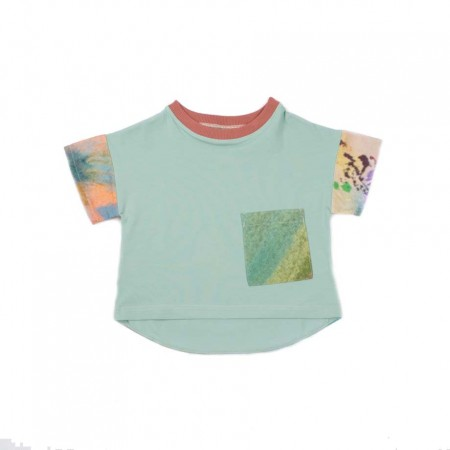MimOOkids Oversize Shirt, Spearmint & Garden 3-4y (Shirts)