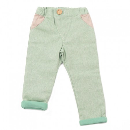 Mimookids Close-Me Lined Pant, Pistacho/Apple Green