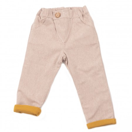 Mimookids Close-Me Lined Pant, Sand/Honey (Pants / Leggins)