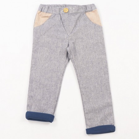 Mimookids Close-Me Lined Pant, Denim/Petrol (Pants / Leggins)