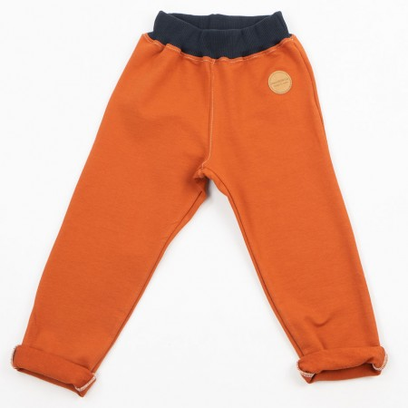 Mimookids Pull-Me-Up Pant, Cinnamon/Denim Blue (Pants / Leggins)