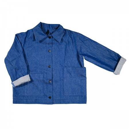 Pippins Denim Chore Jacket Colour: Blue, Size: Small (3-4Y) (Sweaters)