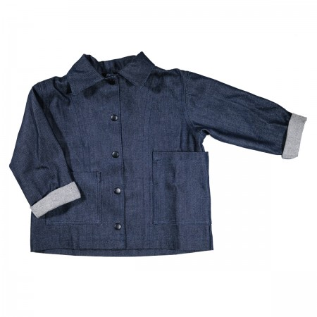 Pippins Denim Chore Jacket Colour: Indigo, Size: Medium (5-6Y) (Sweaters)