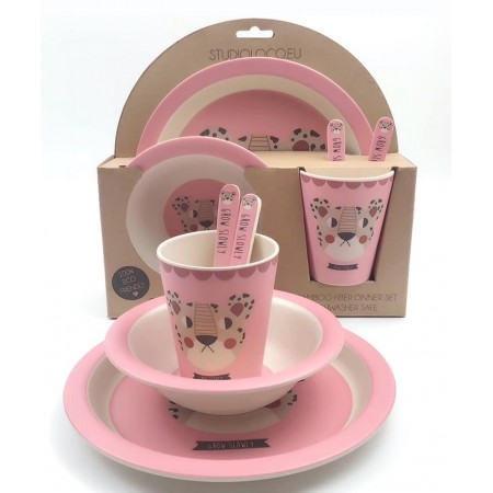 StudioLoco Bamboo fibre Giftset leopard pink (Sets)