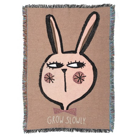 StudioLoco Jacquard Cotton Throw Rabbit 100x140cm (Children s plaid)