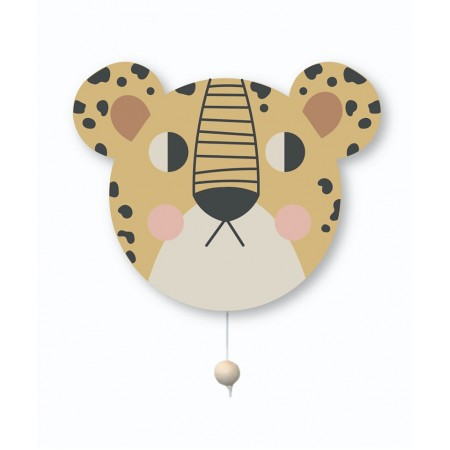 StudioLoco Leopard Wallhanging Lamp & Musicbox Leopard (Lightning)