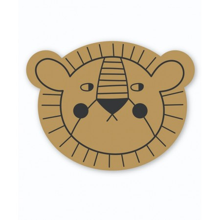 StudioLoco Placemat Mustard Lion (Silicon mats)