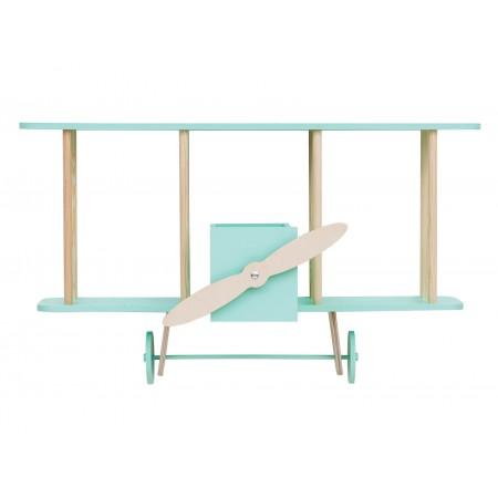 "up! Warsaw Biplane shelf ""Dashy"" mint green (Furniture)"
