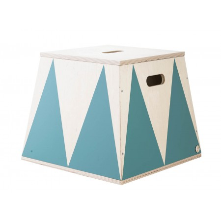 "up! Warsaw Trapezoid plinth ""the roll up"" ocean green (Toy boxes)"